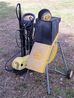 Sale 9191W - Lot 754 - A German made mulcher together with a Karcher water blaster