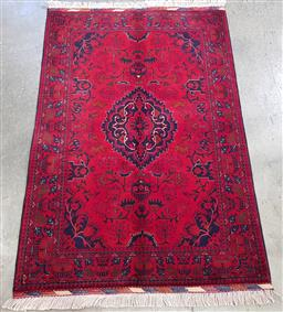 Sale 9188 - Lot 1302 - Hand knotted Pure Wool Super Fine Afghan Belgic (150 x 100cm)