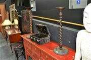 Sale 8019 - Lot 1006 - Two Barley Twist Smokers Stand