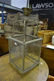 Sale 8134 - Lot 1074 - Metal and Glass Light Fitting