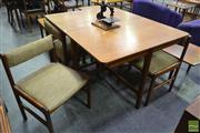 Sale 8235 - Lot 1023 - McIntosh Teak Table and 4 Chairs