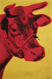 Sale 8583A - Lot 5049 - Andy Warhol (1928 - 1987) - Cow 61 x 40.5cm (frame: 90 x 68cm)