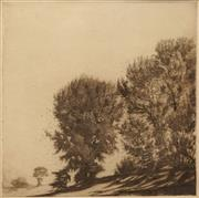 Sale 8619 - Lot 2062 - Gerrard Gayfield Shaw (1885 - 1961) Falling Leaves, Bathurst etching ed.18/60, 20.5 x 20.5cm, signed lower right