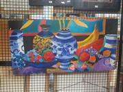 Sale 8836 - Lot 2040 - Artist Unknown - Summer Still Life #3, 2008, acrylic on canvas, 46 x 92cm, signed lower right