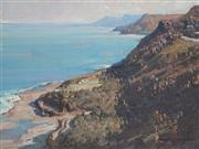 Sale 8867A - Lot 5012 - David Spencer Couper (1956- ) - Cliff Shadows, View of South Coast 27.5 x 39.5cm