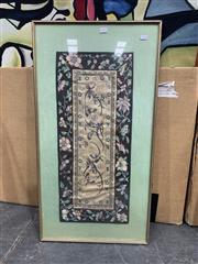Sale 9008 - Lot 2070 - Chinese Embroidery, frame: 87 x 46 cm
