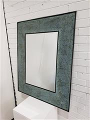 Sale 9059 - Lot 1096 - Bevelled Edge Mirror in Ornate Metal Frame, 120 x 96 cm