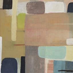 Sale 9178 - Lot 512 - BELYNDA HENRY (1973 - ) Overview oil and pencil on canvas 113 x 112 cm signed and titled verso