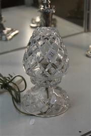 Sale 8276 - Lot 21 - Crystal Parlour Lamp