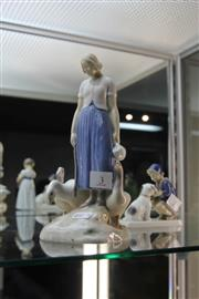 Sale 8283 - Lot 3 - Bing & Grøndahl Figure Group of a Girl with Geese