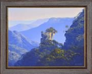 Sale 8382 - Lot 501 - John Wilson (1930 - ) - Orphan Rock Blue Mountains 38.5 x 49cm