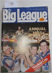 Sale 8404S - Lot 58 - 1985 Big League Annual Magazine, showing Canterbury on front cover