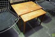 Sale 8532 - Lot 1176 - Nest of Two Timber Tables