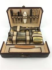 Sale 8545N - Lot 59 - Mens Travelling Toiletry Set (W: 26cm)