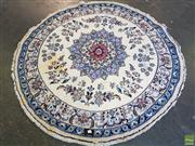 Sale 8566 - Lot 1309 - Persian Kashan Round Rug (150)