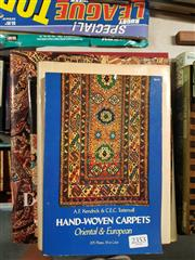 Sale 8659 - Lot 2353 - 4 Volumes incl. Jacobsen, C.W. Oriental Rugs a Complete Guide; Neff, I.C. & Maggs, C.V. Dictionary of Oriental Rugs; Bronimann,...