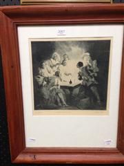 Sale 8663 - Lot 2007 - Norman Lindsay Women and Cards, monophoto lithograph, ed.191/200, unsigned -