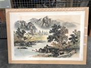 Sale 8759 - Lot 2080 - Oriental Watercolour, unframed -