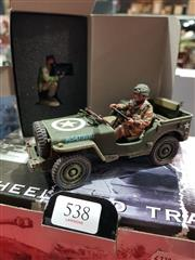 Sale 8817C - Lot 538 - K&C Figural Groups (2); Airborne Jeep & Photographic Unit Cameraman