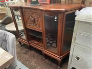 Sale 8863 - Lot 1011 - Mahogany Serpentine Front Hall Cabinet