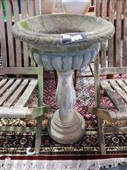 Sale 8889 - Lot 1067 - Concrete Urn Form Planter on Stand (A/F)