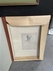 Sale 9016 - Lot 2041 - Francis Dodd (2 works) Portrait of Oliver Elton 1910; Homme Inconnu etchings, each 56.5 x 41cm (mount) and signed lower right -