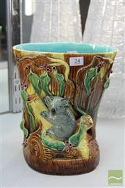 Sale 8256 - Lot 24 - Koala Vase with a Signature to the Base