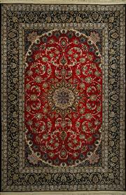 Sale 8370C - Lot 83 - Persian Isfahan Silk & Wool 300cm x 200cm