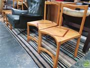 Sale 8435 - Lot 1077 - Set of Four Japanese Elm Dining Chairs