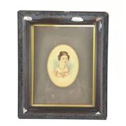 Sale 8545N - Lot 60 - Georgian Framed Portrait, A/F (23cm x 19cm)