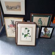 Sale 8636 - Lot 2034 - Group of Original Paintings and Decorative Prints (framed,various sizes), 1 A/F - glass broken
