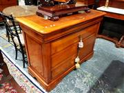 Sale 8693 - Lot 1092 - French Style Cherrywood Chest of Three Drawers, and a concealed drawer. (key in office)