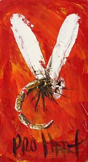Sale 8870A - Lot 564 - Kevin Charles (Pro) Hart (1928 - 2006) - Dragonfly 14.5 x 8.5 cm
