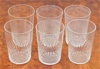 Sale 9090H - Lot 33 - A set of quality cut glassware comprising six tumblers, Height 8.5 cm