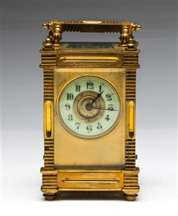 Sale 9093 - Lot 96 - Brass Cased Carriage Clock H: 13cm