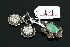 Sale 3750 - Lot 14 - A JADE AND SILVER CLASP TOGETHER WITH A PAIR OF VICTORIAN SILVER EARRINGS WITH IVY LEAF DECORATION.