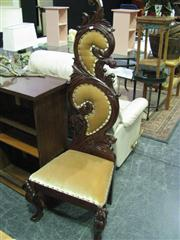 Sale 7932A - Lot 1174A - Pair of Heavilly Carved Mahogany High Back Chairs