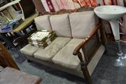 Sale 7987A - Lot 1240 - Javi 3 Seater Lounge with Rattan Back