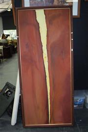 Sale 8419T - Lot 2026 - Beryl Miles Rock Crack Acrylic On Canvas (178cm x 80) Signed Lower Right