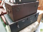 Sale 8455 - Lot 1065 - Two Vintage Travel Trunks