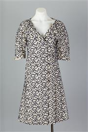 Sale 8661F - Lot 76 - A Marni cream and navy textured shift dress, approx. size S/M