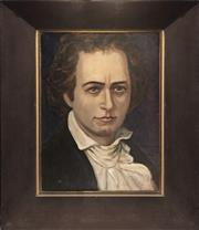 Sale 8784 - Lot 2018 - Volodymry Savchack - Beethoven oil on board, 55 x 45cm, signed verso