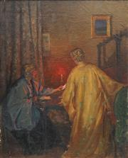 Sale 8892A - Lot 5051 - Attributed to Archibald Woodhouse (1884 - 1930) - The Letter, 1917 73 x 59 cm