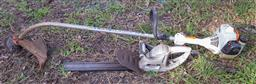 Sale 9191W - Lot 757 - A Stihl petrol whipper snipper together with a Ryobi electric blower