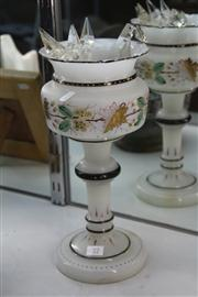 Sale 8276 - Lot 22 - Hand Painted White Glass Lustre