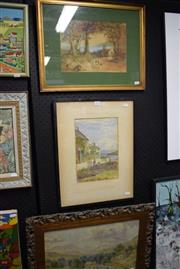 Sale 8346 - Lot 2034 - Group of (3) early C20th watercolours by Unknown Artists - Country Scenes, various sizes, framed, (2) signed.