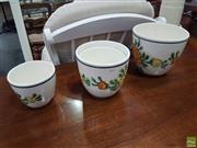 Sale 8601 - Lot 1045 - Set of Four Spanish Hand Painted Planters (1343)