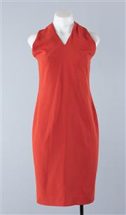 Sale 8800F - Lot 86 - A Carla Zampatti sleeveless cocktail dress with crossed halterneck detail, approx size 10