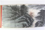 Sale 8877 - Lot 69 - Chinese Scroll of Mountain and River Scene (L355cm)