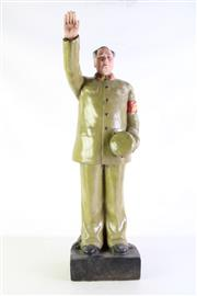 Sale 8968 - Lot 43 - A Large Ceramic Figure of Chairman Mao Waving (Damage to Hand,Small Chips, H 80cm)